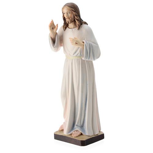 Estatua Jesús Bendiciente madera pintada de la Val Gardena 3