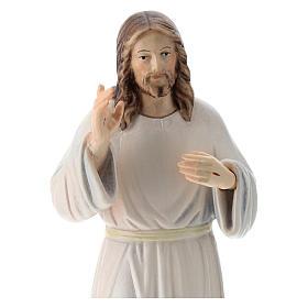 Statua Gesù Benedicente legno dipinto della Val Gardena s2