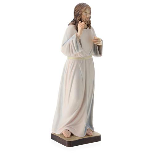 Statua Gesù Benedicente legno dipinto della Val Gardena 4
