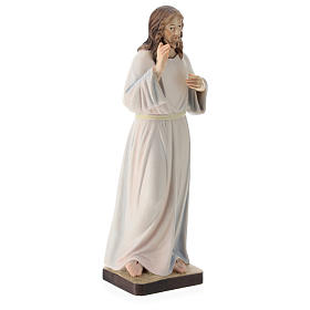 Christ with white dress painted wood statue, Val Gardena s4