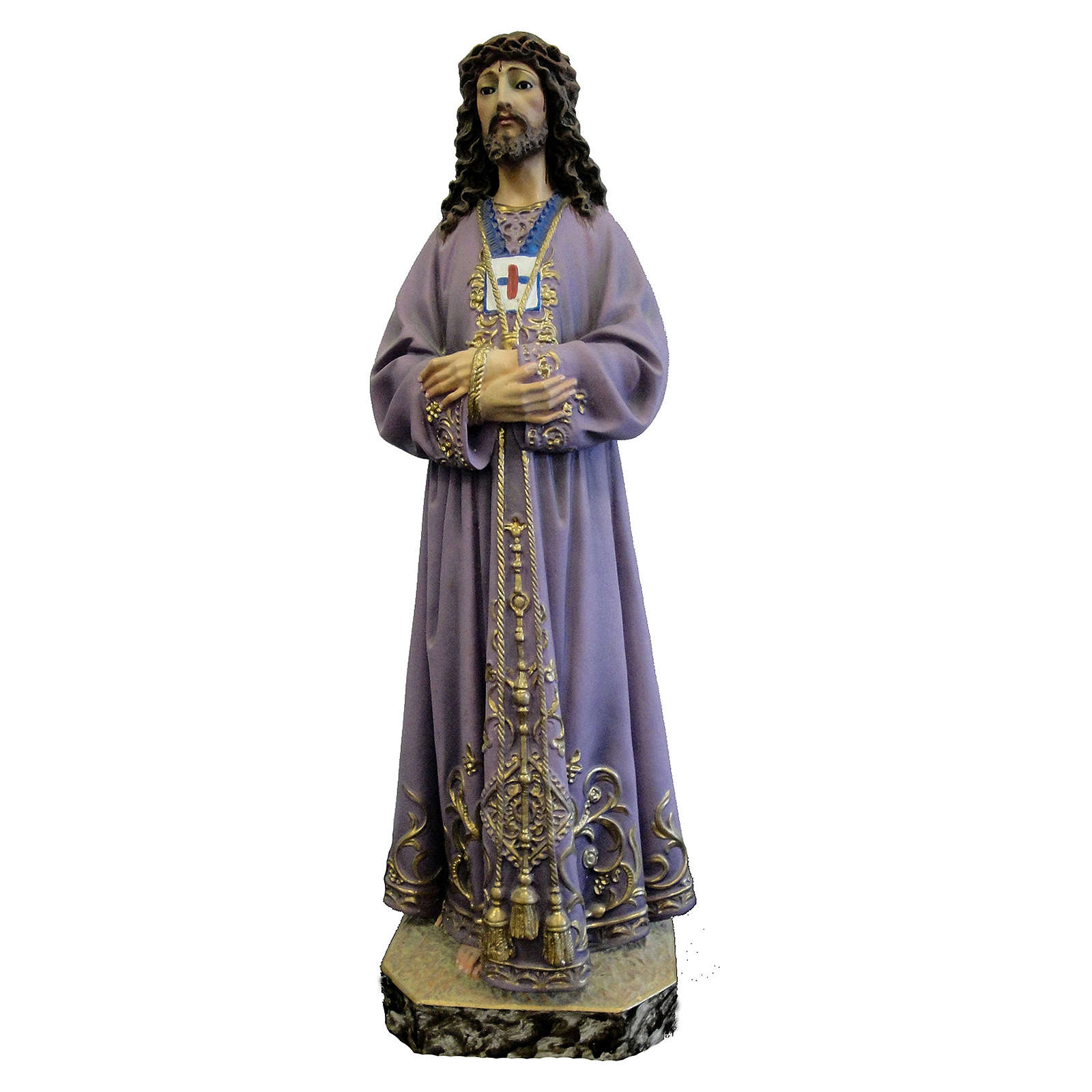 Jesus figurine in coloured Valgardena wood 4
