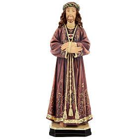 Estatua de Jesús de madera pintada de la Val Gardena s1