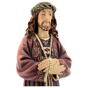 Estatua de Jesús de madera pintada de la Val Gardena s2