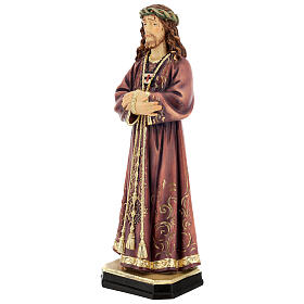 Estatua de Jesús de madera pintada de la Val Gardena s3