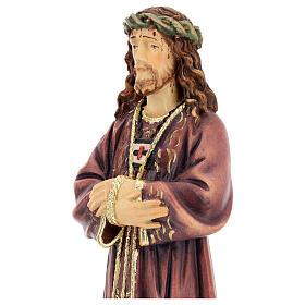 Estatua de Jesús de madera pintada de la Val Gardena s4
