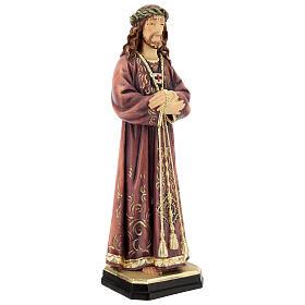 Estatua de Jesús de madera pintada de la Val Gardena s5