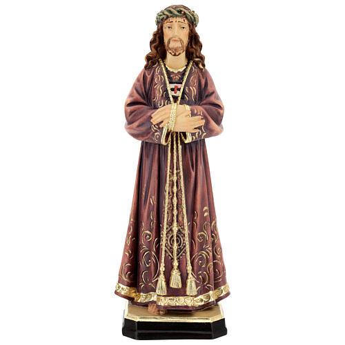 Estatua de Jesús de madera pintada de la Val Gardena 1