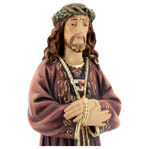 Estatua de Jesús de madera pintada de la Val Gardena 2