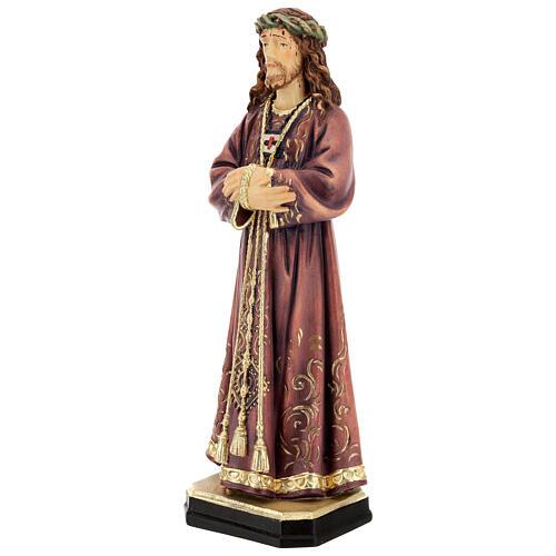 Estatua de Jesús de madera pintada de la Val Gardena 3