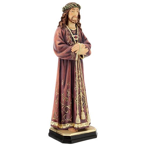 Estatua de Jesús de madera pintada de la Val Gardena 5
