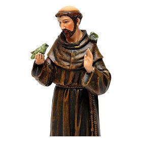 Saint Francis figure in painted wood pulp 15cm s2