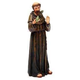 Saint Francis figure in painted wood pulp 15cm s4