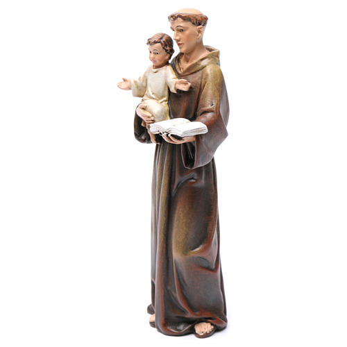 Saint Anthony figure in painted wood pulp 15cm 3