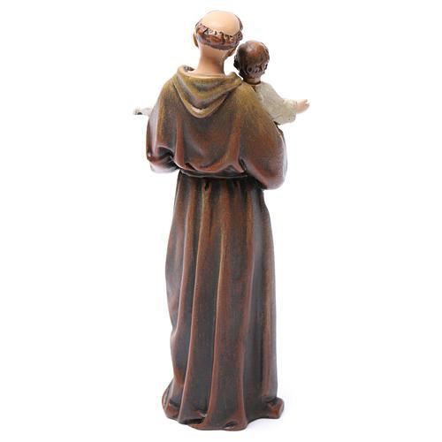 Statue Saint Antoine pâte à bois colorée 15 cm 5