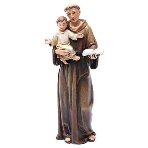 Imagem Santo António pasta madeira corada 15 cm 1