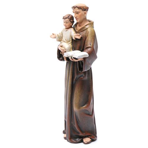Imagem Santo António pasta madeira corada 15 cm 3