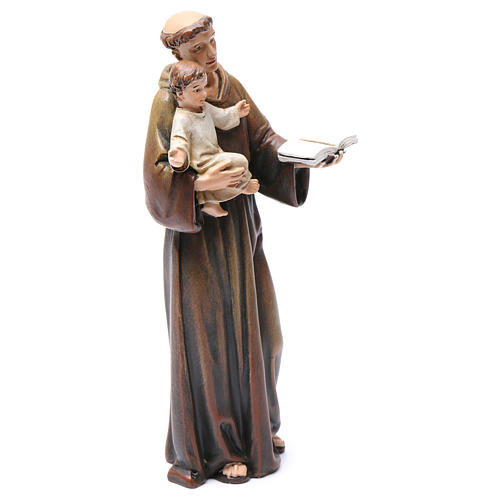 Saint Anthony figure in painted wood pulp 15cm 4
