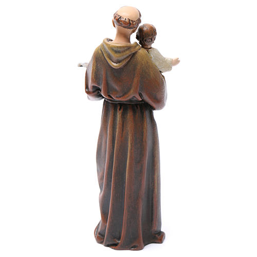 Saint Anthony figure in painted wood pulp 15cm 5