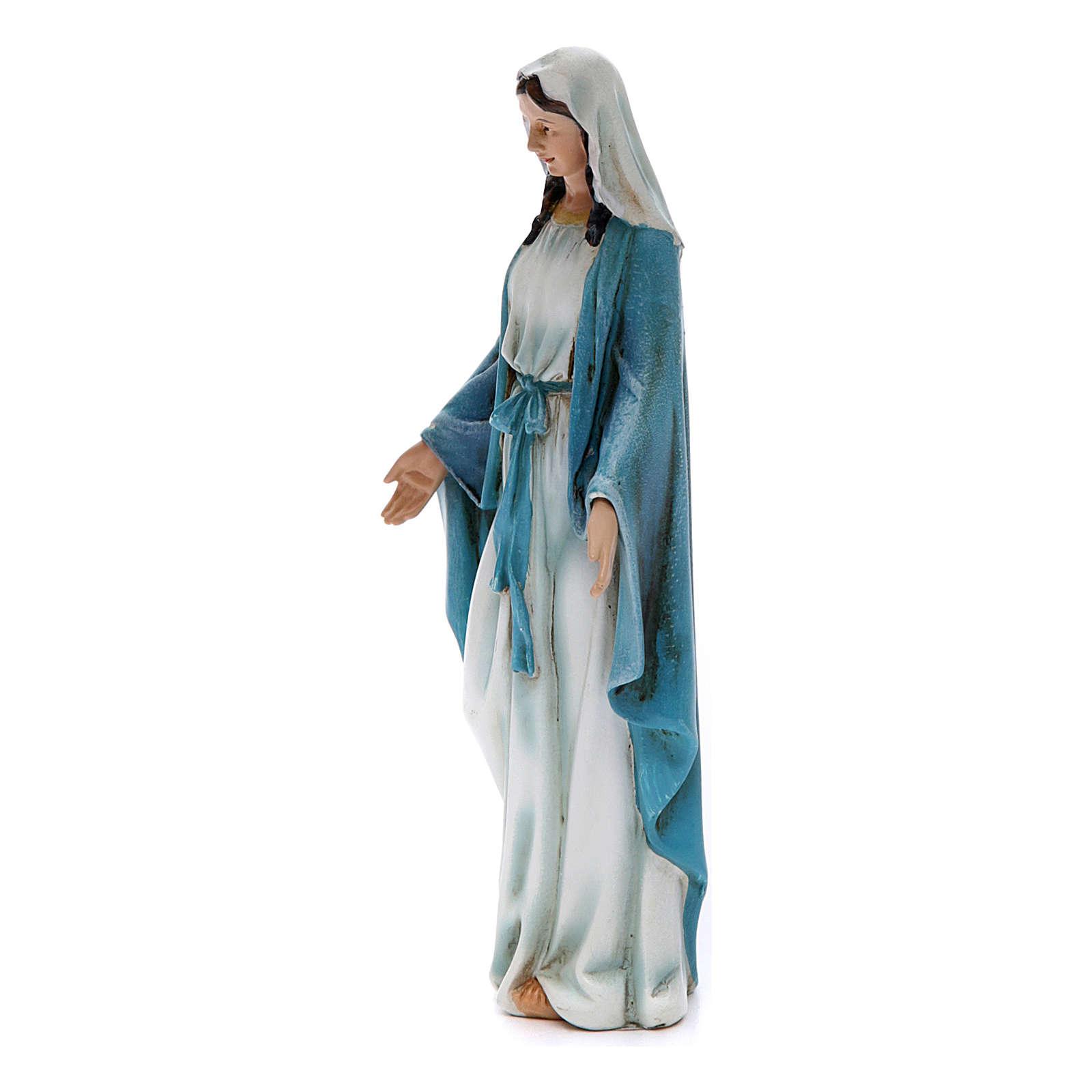 Statua Immacolata pasta legno colorata 15 cm 4