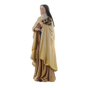 Statua Santa Teresa pasta legno colorata 15 cm s2