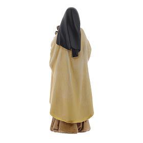 Statua Santa Teresa pasta legno colorata 15 cm s4