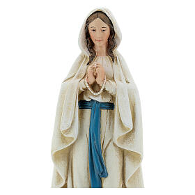 Imagen Virgen de Lourdes pasta de madera pintada 15 cm s2