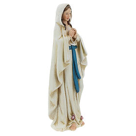 Imagen Virgen de Lourdes pasta de madera pintada 15 cm s4