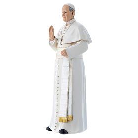 Imagen Papa Francisco pasta de madera pintada 15 cm s2