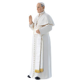 Pope Francis statue in coloured wood pulp 15cm s2