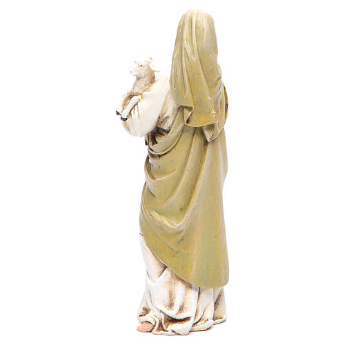 Statua Madonna con Bambino pasta legno colorata 15 cm 3