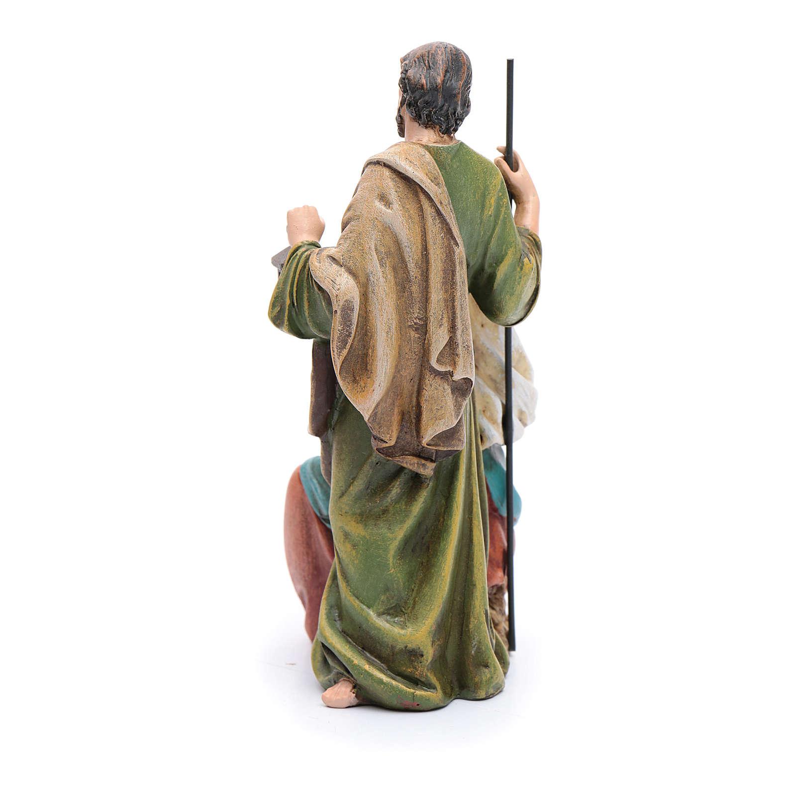 Statue Heilige Familie bemalte Holzmasse 4