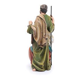 Statua Sacra Famiglia pasta legno colorata s3