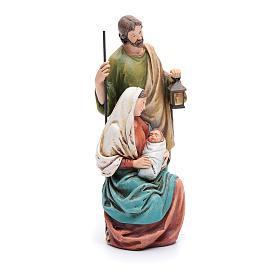Statua Sacra Famiglia pasta legno colorata s4