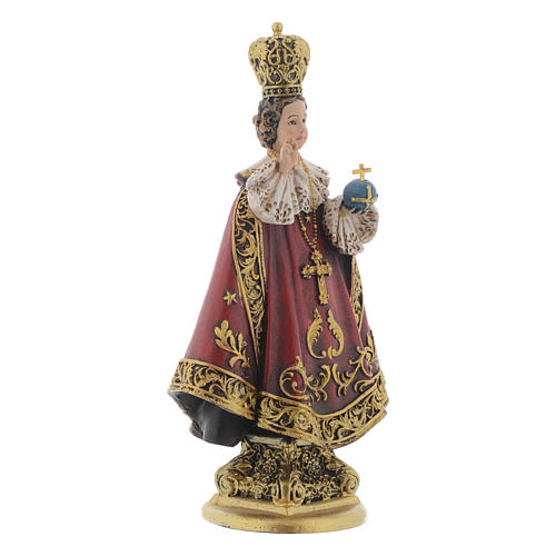 Estatua Niño de Praga de pasta de madera pintada 15 cm 3