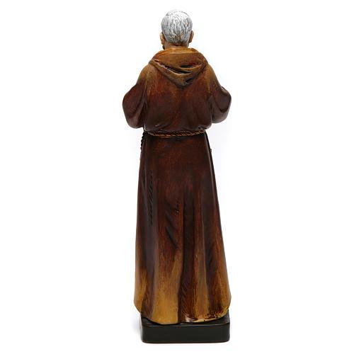 Estatua San Padre Pío de pasta de madera pintada 15 cm 5