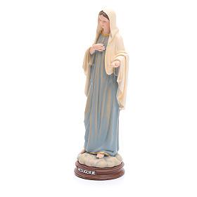 Estatua Virgen de Medjugorje de pasta de madera pintada 15 cm s2