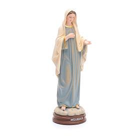 Statua Madonna Medjugorje pasta legno colorata 15 cm s4