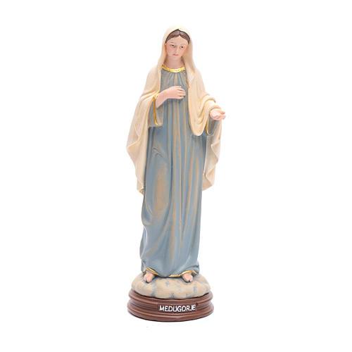 Statua Madonna Medjugorje pasta legno colorata 15 cm 1