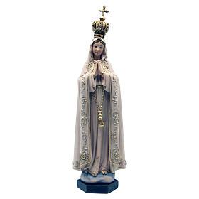 Statues en bois peint: Statue Fatima pâte à bois colorée 15 cm