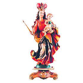 Statua Madonna Bawaria legno acero dipinta s1