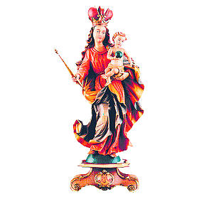 Our Lady of Bavaria in painted maple wood s1