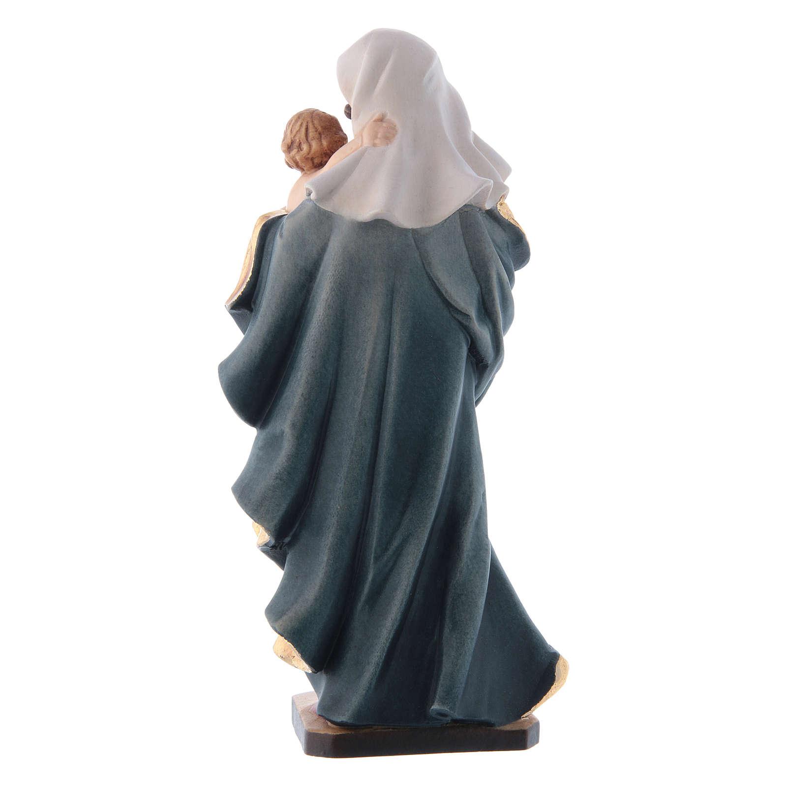 Statua Madonna del Cuore legno Valgardena dipinto 4