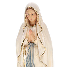 Our Lady of Lourdes statue, painted Valgardena wood s2