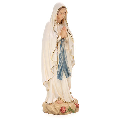 Our Lady of Lourdes statue, painted Valgardena wood 4