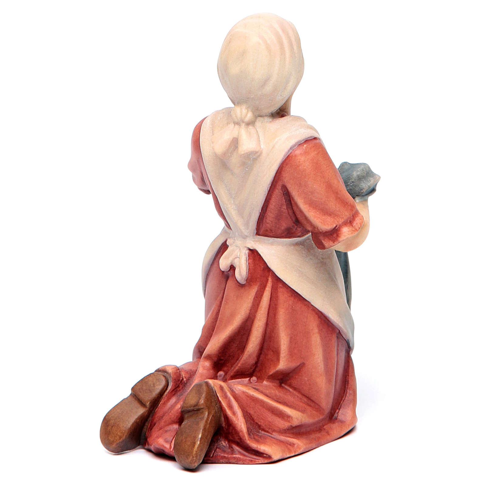 Statua Bernadette legno acero colorato 4