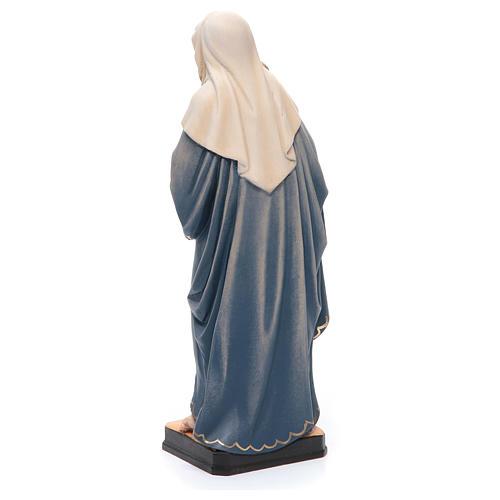 Statua Madonna Bambin Gesù legno Valgardena colorato 3