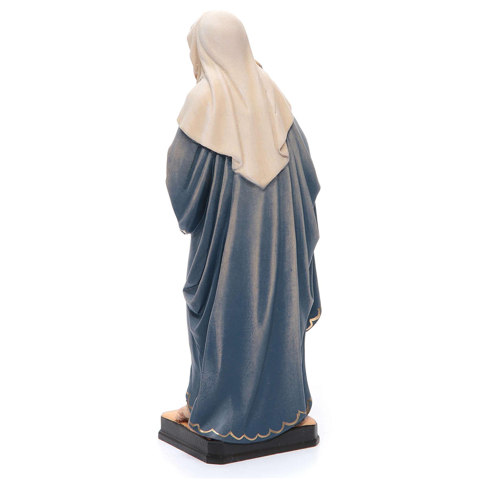 Statue Holy Mary & Baby Jesus painted Valgardena wood 4