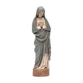 Imágenes de Madera Pintada: Estatua Virgen de la Anunciación 25 cm azul