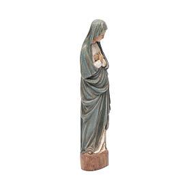 Statua Vergine dell' Annunciazione 25 cm blu s4