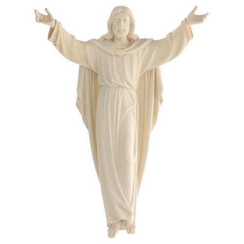 Statue of the Resurrection of Jesus Christ in natural wood 1